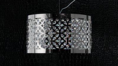 Immagine di Amira AMI01 - lampada a sospensione in acciaio elettro-colorato con decorazioni in cristallo